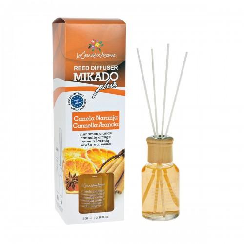 Odorizant cu betisoare Mikado Plus Scortisoara si Portocala 100 ml