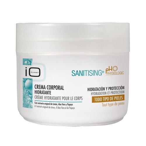 IO Planet Sanitising+ Crema Hidratanta pentru corp cu extract original de Lamaie, Aloe Vera si Papaya 300 ml